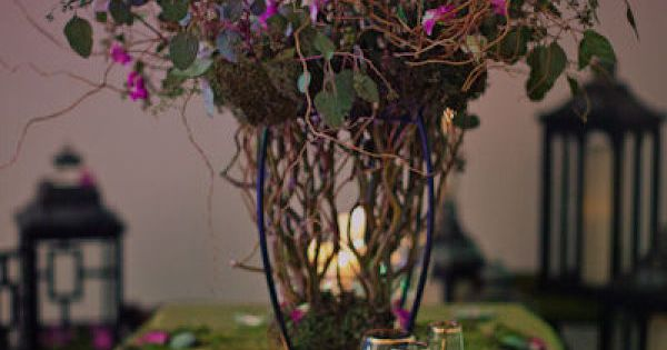 enchanted forest centerpiece ideas | Enchanted Forest Wedding! Love the way this