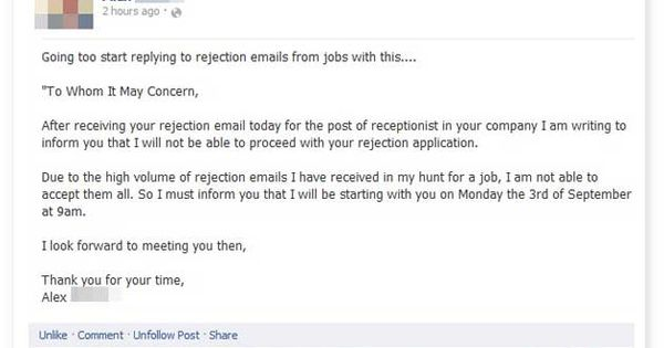 Rejecting the Rejector Mellie likes this Pinterest Humor - thank you email after rejection