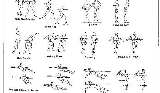 Printable Water Aerobic Exercises | Resistance band workout printable ...