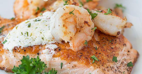 Seared Salmon and Shrimp with Creamy Dijon Dill Sauce   Recipe   Dill ...