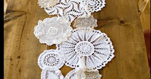 Lace Doily Table Runner... Great Idea !