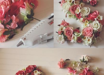DIY Flower Monogram | Monogram idea for the girls' room