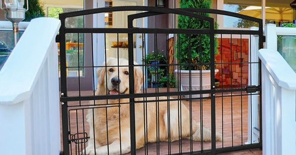 Look At This Indoor Outdoor Expandable Extra Tall Pet Gate