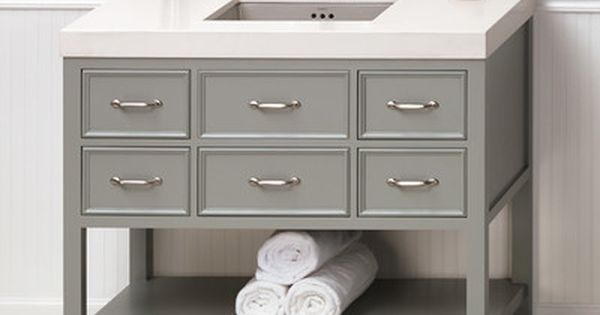 Love This Especially With The Open Shelf On The Bottom Basement Bathroom Remodel Inspiration