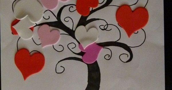 Activit manuelle saint valentin gommettes arbre coeurs st valentin pinterest saints - Activite manuelle st valentin ...