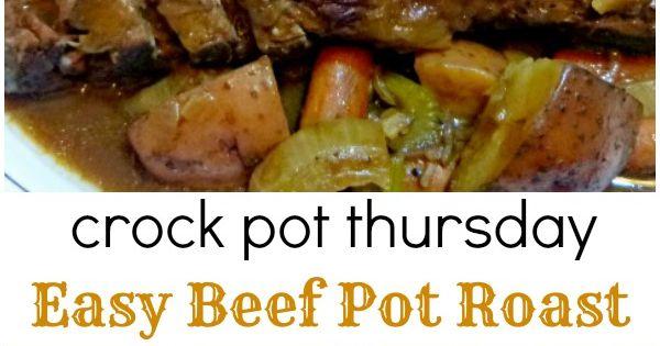 Easy Beef Pot Roast | Recipe | Beef pot roast, Pot roast and Crock pot ...