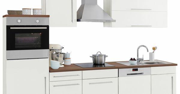 Küchenzeile ohne E-Geräte weiß, »Samos«, pflegeleichte Oberfläche - küchenzeile 220 cm mit elektrogeräten