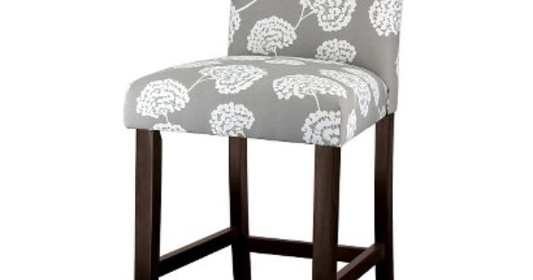 Uptown Toile Flora 24 Counter Stool Light Gray Toile
