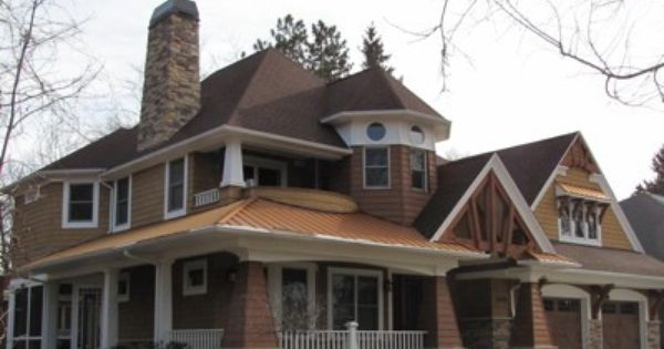 Copper Penny Home Coated Metals Group Brick Exterior House Copper Penny Copper Roof