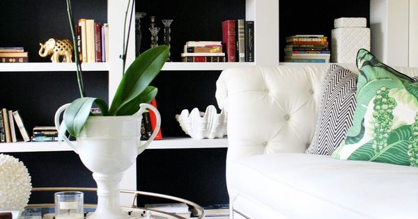 Bookcases, Built ins and Black and white on Pinterest