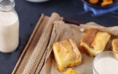 Far au lait d amande et abricots secs recette abricot for Amande cuisine bjorg