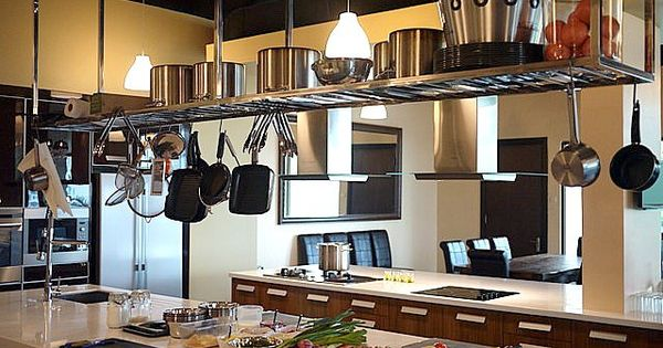 Suspended Shelving Over Island Inspiration Pinterest Shelving Kitchens And Shelves