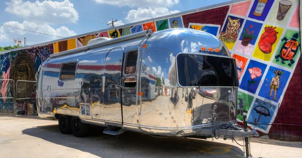 1965 Avion 25 Combo With 1965 Chevy C10 Complete Interior And Exterior Strip Down Open Floor Plan Park La Vintage Campers Trailers Airstream Vintage Camper