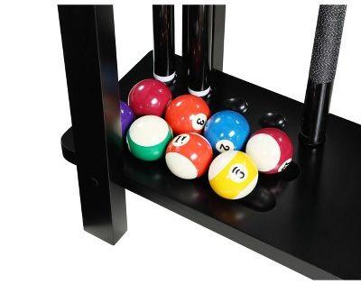 Hathaway Classic Floor Billiard Pool Cue Rack Black Pool Cue Rack Pool Table Accessories Billiards