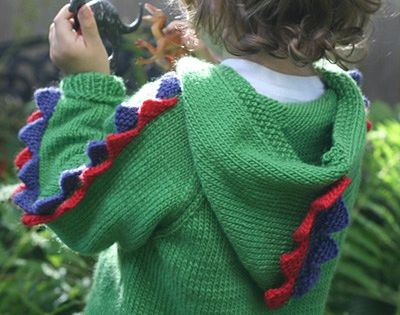 Free Knitting Pattern For Steggie Sweater Stegosaurus