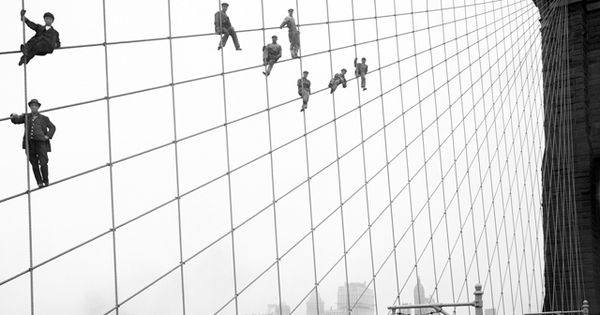 Brooklyn Bridge, Source has many 100+ year old photos of New York