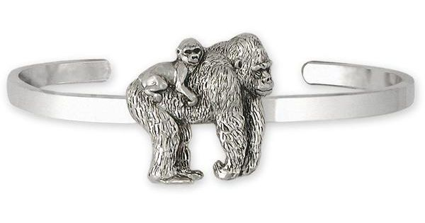 Gorilla Jewelry Sterling Silver Handmade Gorilla Cufflinks  GO32X-CL