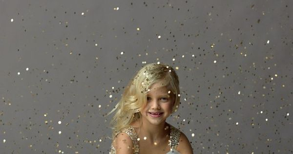 """Every little girl should have a glitter photo shoot."""