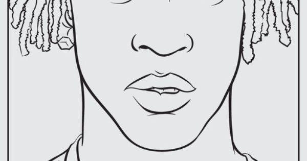 rapper coloring book page Image Bank Pinterest