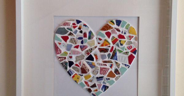 Mosaik polterabend hochzeit diy hochzeitsideen pinterest polterabend mosaik und geschenkideen - Polterabend deko ideen ...