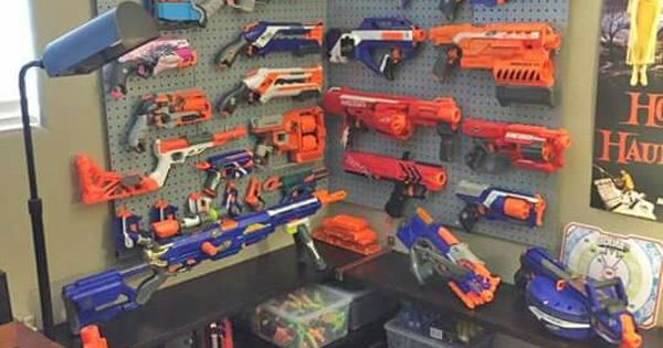 Nerf Gun Armory For The Kiddos Pinterest Nerf Guns