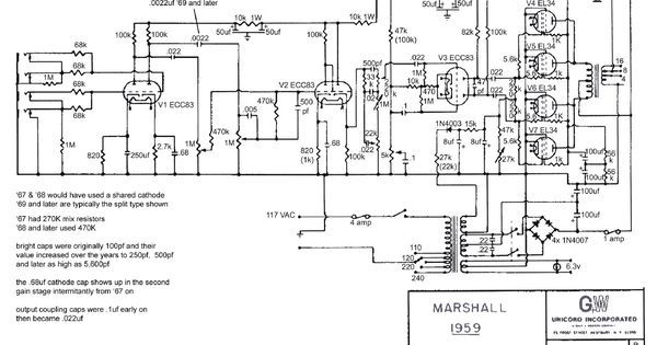 plexi 1959 schematic