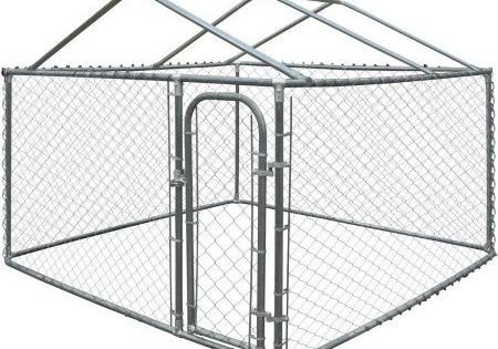Aleko Feet Dog Kennel Diy Chain Link Box Kennel With Roof Frame Walmart Com Buy Aleko Dog Kennel Diy Chain Link In 2020 With Images Dog Kennel Outdoor Diy Dog Kennel