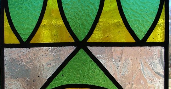 Mid Century Modern Stained Glass Panel