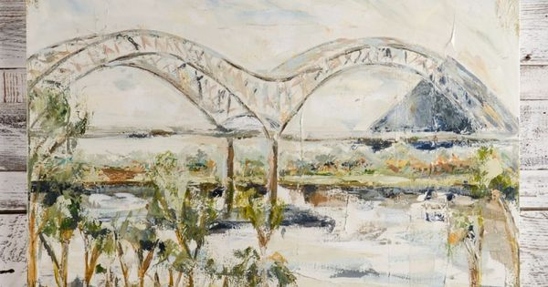 Sarah robertson memphis bridge with pyramid painting hand for Creative home designs memphis tn