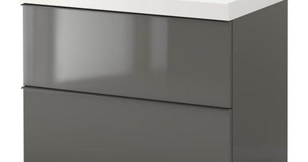 Godmorgon Edeboviken Sink Cabinet With 2 Drawers High