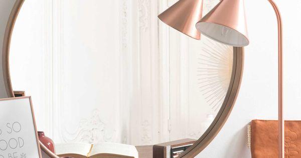Espejo redondo de madera d 60 cm andersen sal n for Espejos redondos salon