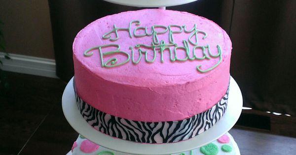 50th Birthday Cake Bottom Layer Has Descriptive Words