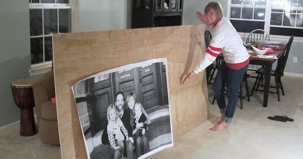 Love this idea! Will do with new family pics! Staples does oversized