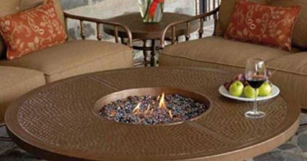 Castelle Round Coffee Table With Firepit Vcf48wl Firepits Pinterest Coffee Wood Burning