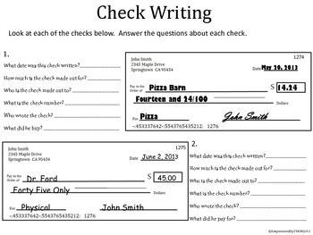 42++ Check writing practice worksheets Latest News