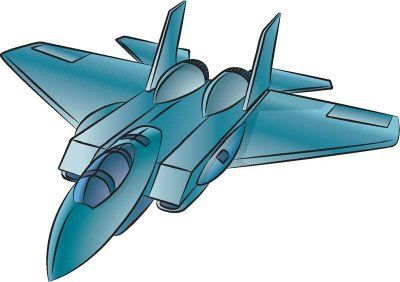 simple fighter airplane drawing