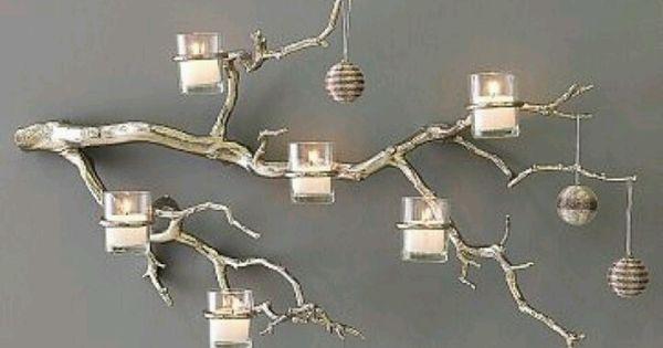 Tak met kaarsen houders dingen die ik leuk vind - Deco hoofdslaapkamer ...
