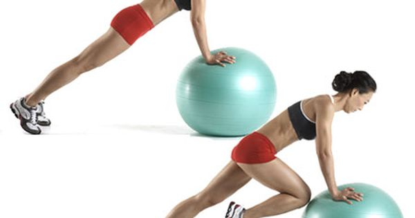 Great ab workout! Mountain climbers using Swiss ball
