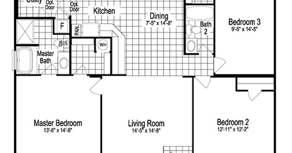 Model sst342a7 1260 sq ft manufactured home floor plans for House plans oklahoma city