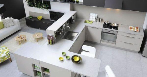 D couvrir la beaut de la petite cuisine ouverte for Amenagement cuisine avec ilot