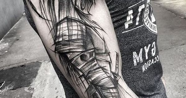 k mpfer tattoo graues t shirt mann helm maske tattoos pinterest tattoo tatoos and tatoo. Black Bedroom Furniture Sets. Home Design Ideas