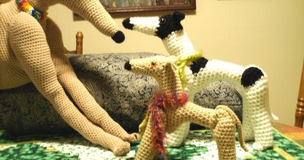 PIXIE HOUNDS Greyhound Dog Dolls to Crochet PDF Pattern ...