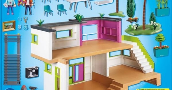 Maison moderne playmobil city life 5574 playmobil for Maison moderne 5574
