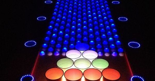 Interactive Led Beer Pong Table Beer Pong Tables Beer Pong And Beer