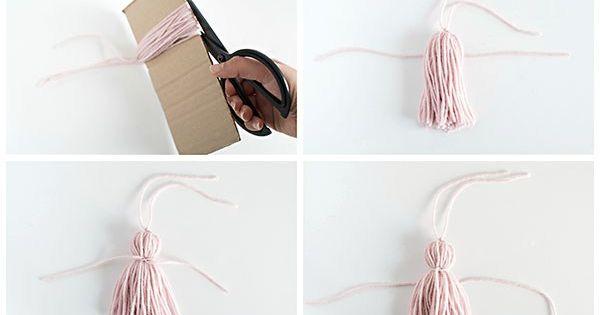 C mo hacer una borla de hilo labores pompones - Como hacer borlas de hilo ...