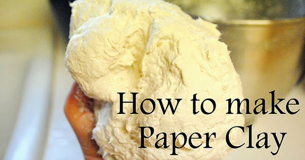DIY: how to make paper clay tutorial recipe adapted from Jonni at