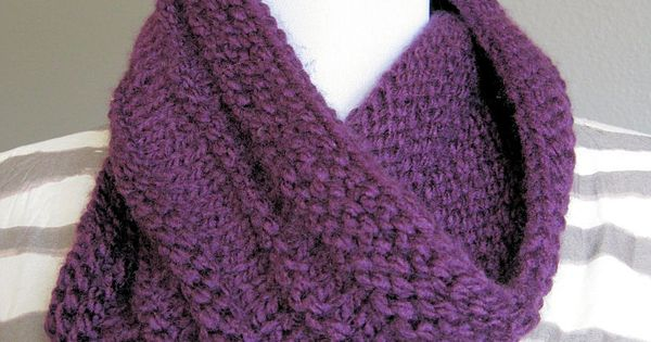 Purple Knit Cowl Loops & Thread Charisma Knitting Pinterest Knit co...