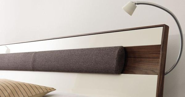 Ledikant lunis hoofdbord a ledikant lunis hoofdbord b met ledlamp h lsta slaapkamer lunis hout - Slaapkamer hout ...