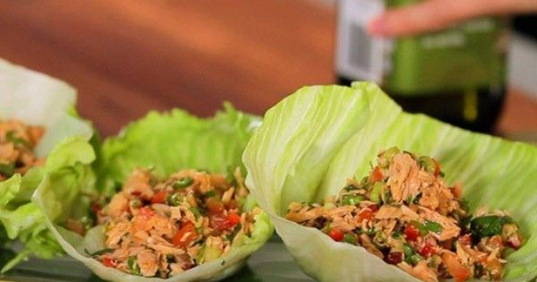 Chilli Tuna Lettuce Cups