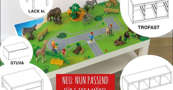 Ikea hack kids stuva trofast lack kallax expedit diy for Kinderzimmer playmobil